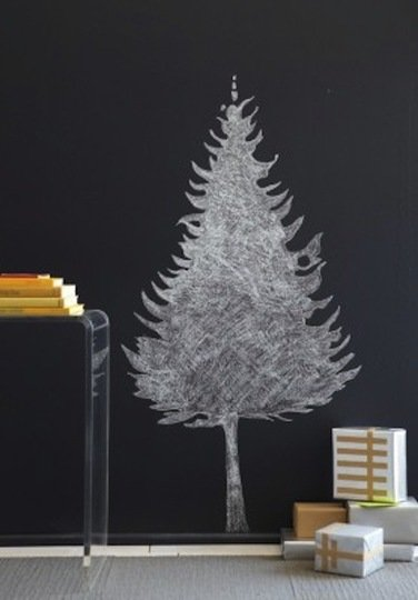 alternative christmas tree chalk