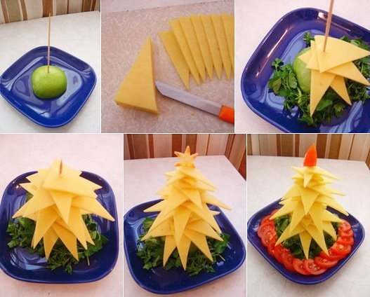 christmas tree cheese