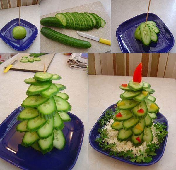 christmas tree cucumber