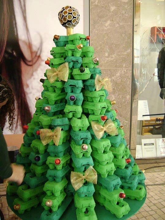 christmas tree egg carton