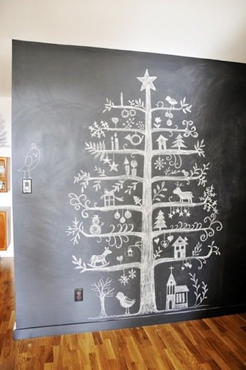 alternative christmas treechalk1