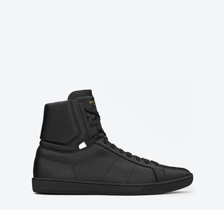 ysl leather high tops